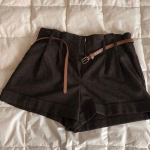 Forever 21 brown shorts with belt